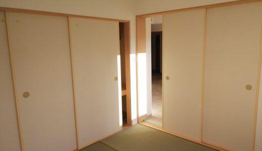 新築物件に新規の量産襖(ダンフスマ)を納入